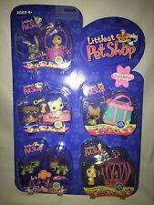 LPS 5  Bunny/Tweety, Pug/Kitty, Dog W/Bandana, Twin Turtles Cockadoo
