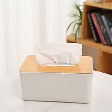 Wooden Cover Plastic Tissue Box Paper Holder Dispenser Organizer For Ho MFH