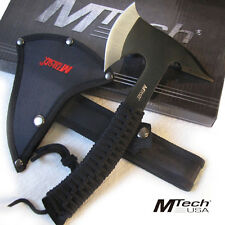 "Black NINJA STEALTH Tactical AXE Hatchet w/Sheath - Hunting Throwing 9"" Ov MTech"