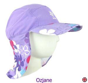 GIRLS UV 50 +OZCOZ SUN SWIM HAT SUN PROTECTION LEGIONNAIRE LILC FLO 7 TO 10 YRS