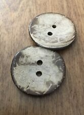 Giant 38mm / 60L Natural Coconut Buttons Pack of 2