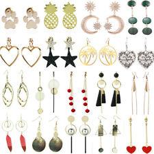 Fashion Women Shell Pearl Crystal Flower Heart Tassel Threader Earring Ear Studs