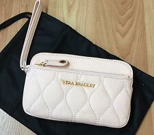 Vera Bradley ~ Quilted Sophie Wristlet ~ Blush ~ Sycamore Leather  NEW GORGEOUS