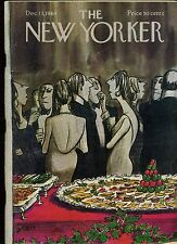 The New Yorker magazine VINTAGE Dec 13, 1969 CHARLES SAXON Cover Art Cocktail Pt