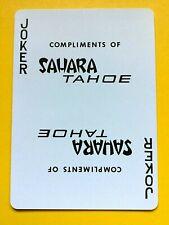 Compliments of Sahara Tahoe Casino Uncancelled Joker Single Swap Playing Card