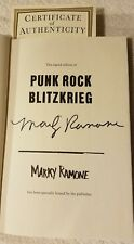 Marky Ramone of the Ramones signed autographed Punk Rock Blitzkrieg book