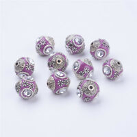 #671  15MM ROUND GLASS PINK BUMPY TOP CABOCHONS  6PC