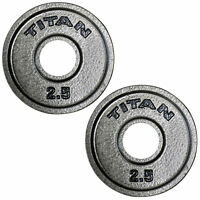 Titan Cast Iron Olympic Weight Plates | 2.5 LB