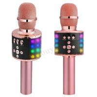 4-in-1 LED drahtlose Bluetooth-Karaoke-Mikrofon USB-Lautsprecher Mini für Zuhaus