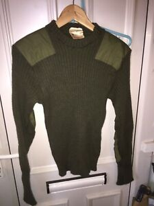 BRITISH ARMY  Commando Jumper Sweater  Pullover Military Wool Green