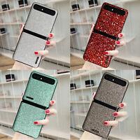 PU Case Cover Shining Glitter Skin Shockproof for Samsung Galaxy Z Flip F7000