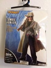NEW 49.99 Spirit halloween zombie hunter boys custome SZ XL (12-14)