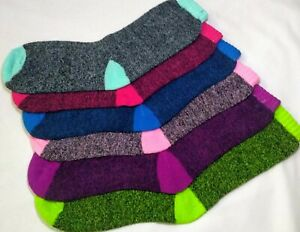 Thermal Socks Mens Womens Chunky Winter Thick Warm Work Boot Big Foot Mix Color