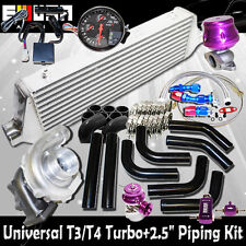 "DIY Universal EMUSA T3/T4 Turbo FMIC 2.5"" Black Piping Kit"