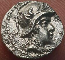 More details for bactrian silver obol king eukratides (r. 145-170 bc). helmeted type. 0.60 gms.