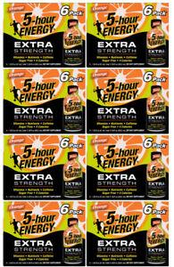 Lot of 8 Boxes - 5-Hour Energy Extra Strength Orange 6 Packs 1.93 fl oz Bottles