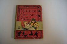 MOTHER GOOSE'S Nursery Rhymes McLoughlin Bros Hardcover Circa 1980-1900