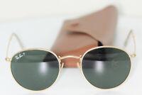 RAY-BAN RB3447 112/58 Round Metal matt Gold Brille glasses FASSUNG eyewear