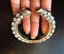 18k on4k Real Gold Victorian Black  Pave Bracelet Bangle Kada RedCarpet Oscars