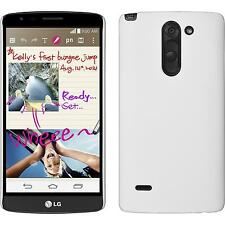 Hardcase for LG G3 Stylus rubberized white Cover + protective foils
