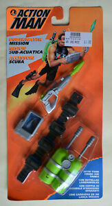 Action Man Hasbro Carded Unopened 1995 SCUBA UNDERWATER Accessories lime green