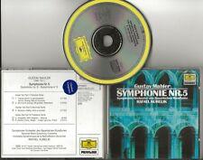 MAHLER Symphonie No.5 cd DG Resonance Rafael Kubelik full silver No IFPI
