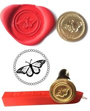 Wax Stamp, BUTTERFLY Wildlife Countryside and Red Wax Stick XWSC121-KIT