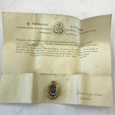 More details for catholic reliquary relic ex praecordiis b pauli a cruce case with wax seal & coa