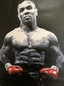 Mike Tyson 30x20inch oil painting.Not a print, framing avail.Ali Frasier Foreman