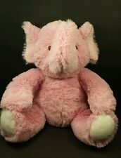 "Beansprout Pink Elephant Plush 12"" stuffed animal with stitched eyes"