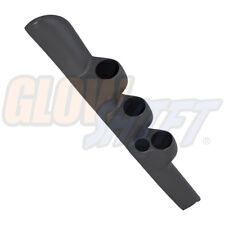 GlowShift Gray Triple Gauge 52mm Pillar Pod w Speaker Hole for 98-02 Dodge Ram
