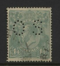 Australia 1926 - 1930 KGV 1s.4d Perf 14 Value Perforated OS Used