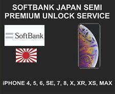 Softbank Japan Semi Premium Unlock Service, iPhone 4, 5, 6, 7, 8, X, XR, XS, MAX