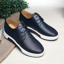 New Men Casual Genuine Leather Shoes Lace-up Sneakers Oxford Breathable Shoes