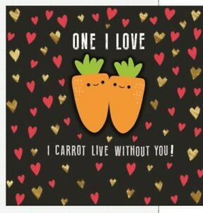 """Hallmark Funny One I Love Valentine's Day Card """"I Carrot Live Without you"""""""
