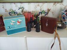 "Zeiss Jena 7x50 German Binoculars Jenoptem w/Leather Cs..Box & ""repair info"""