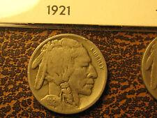 1921 - P/S Buffalo Nickels                                                 (4th)
