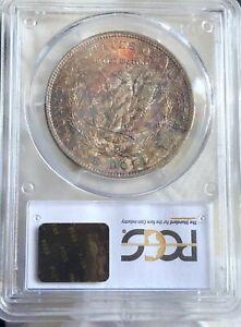 1904 O Morgan Silver Dollar PCGS MS64: Obv Rim Tones, Rev Scattered Colors