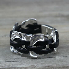 Handmade Uno STYLE De Único 50's Real Leather Bracelet BLACK (59)