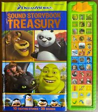 DREAMWORKS SOUND STORYBOOK TREASURY Play-a-Sound Shrek Madagascar Works VGC