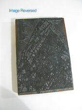 Antique 1800s Printing Block Featuring Franklin County Pennsylvania