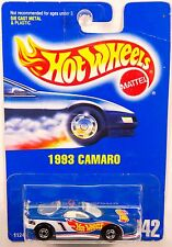 Hot wheels #242 1993 Camaro, Blue Enamel, Short Pipe - Jack Baldwin