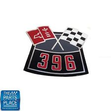 Chevrolet Cars Air Cleaner Cover Decal 396 Cross Flag DC0001