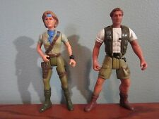 CONGO PETER ELLIOT & KAREN ROSS ACTION FIGURE PAIR FROM THE MOVIE SET LOOSE LOT