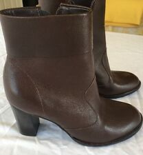 Gianni Bini Boots Size 8 Leather Womens Brown Shoes Heels Casual Dressy
