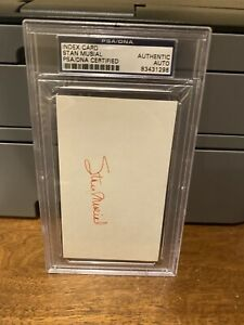 Stan Musial Authentic Autographed Signed 3x5 Index Card PSA/DNA COA