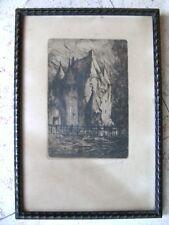 Lithographie ancienne signée Marcel DAUTRI