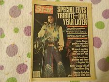 THE STAR VINTAGE TABLOID MAGAZINE ELVIS TRIBUTE ONE YEAR LATER- AUG. 15th ,1978