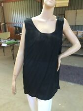 WHOOPI Orientique Black georghette Lined Tunic Camisole Sz 18  NWT $59