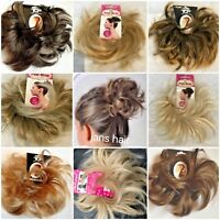 Small Hair Scrunchie Wrap Hairpiece Feathered Spiky Messy Bun Updo Natural Shade